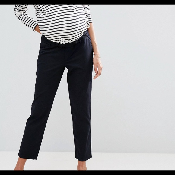 ASOS Maternity Pants - Maternity Twill Pants in Navy from ASOS